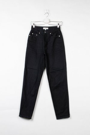 Schwarze High-Rise Jeans (W38cm L73cm)