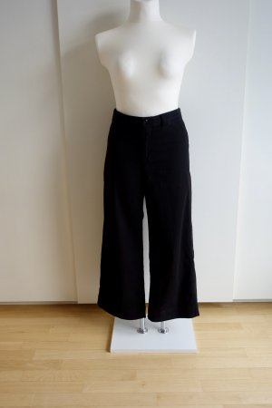 Schwarze high Waist cropped Jeans