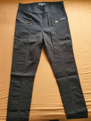 Manguun Spodnie z wysokim stanem czarny Elastan