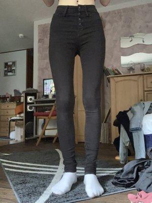 Schwarze high waist Hose