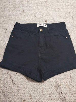 schwarze High Waist Hotpants