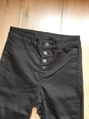 schwarze High-Waist-Jeans