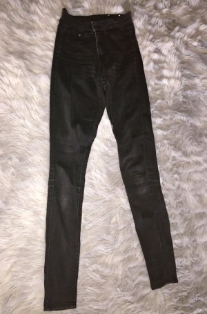 Schwarze high waist jeggings
