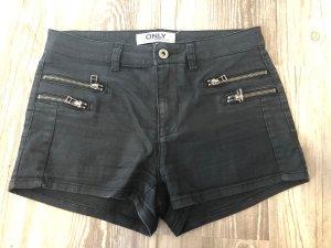 schwarze High-Waist-Short