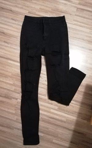 Schwarze Highwaist Hose