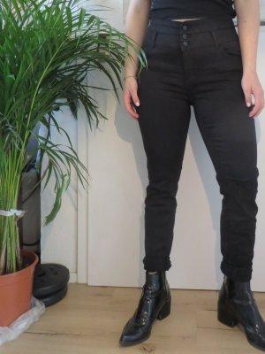 C&A Yessica Pantalon taille haute noir