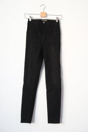 schwarze highwaisted Jeans