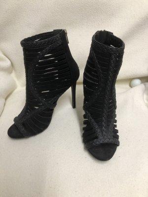 Schwarze hochgeschlossene Sandaletten gr. 49