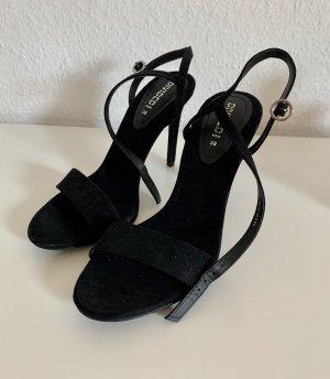 Schwarze hohe Sandaletten / Riemchenpumps von h&m // neu
