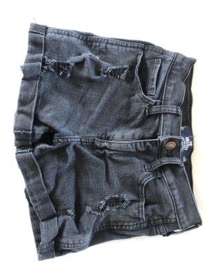 schwarze Hollister Jeans Shorts