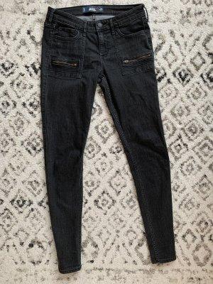 Schwarze Hollister low waist Jeans in Größe 5/ W 27