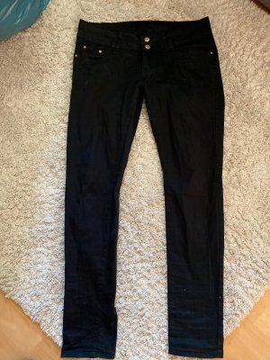 Flame Pantalon taille basse noir