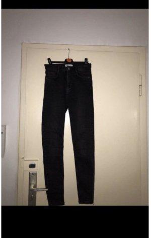 Zara Pantalon taille haute noir