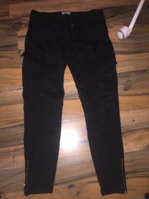 Bershka Pantalon taille haute noir