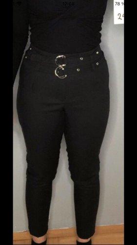 New Yorker Pantalón capri negro-color plata