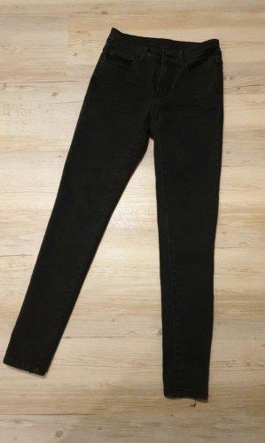 Vila Drainpipe Trousers black