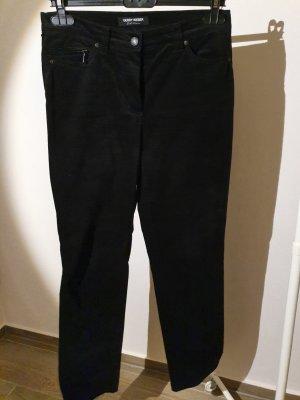 schwarze Hose aus Samt