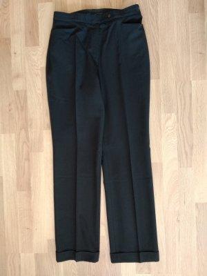 Brax Wełniane spodnie czarny Wełna
