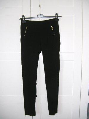 schwarze Hose, Bürohose, Röhrenhose, H&M, Gr. 34