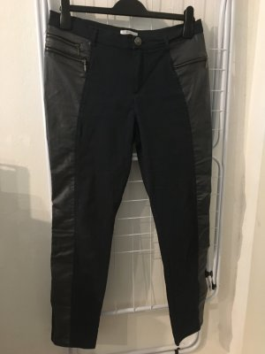 Etam Pantalone da equitazione nero-blu scuro Tessuto misto