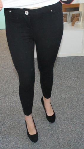 Guess Pantalón de cintura alta negro Viscosa