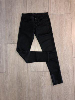 Guess Jeans pantalón de cintura baja negro