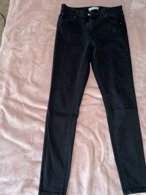 Pull & Bear pantalón de cintura baja negro