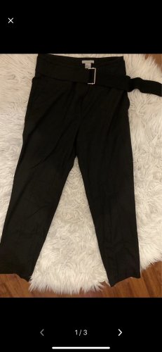 H&M Peg Top Trousers black
