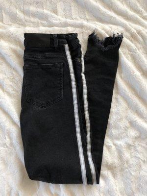 Nakd Jeans skinny nero-bianco