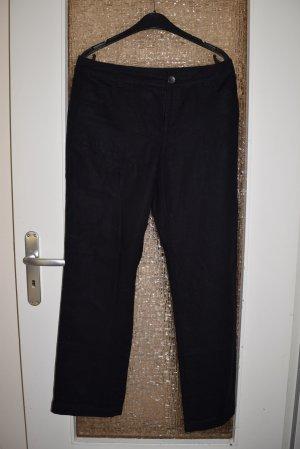 schwarze Hose, Stoffhose, Sommerhose, Gr. 40/L