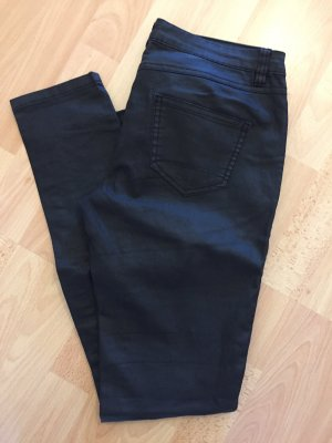 Vila Leather Trousers black