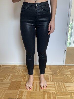 Asos Pantalon en cuir noir