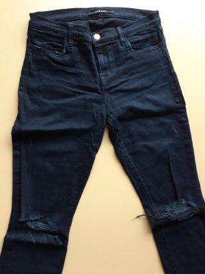 Schwarze J Brand Skinny Jeans mit Rissen, Gr. 30