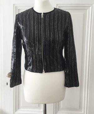 Schwarze Jacke aus Pailletten NEU von Mango