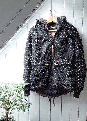 Schwarze Jacke mit Ankern von Naketano