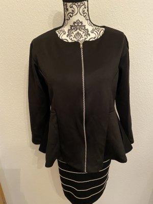 Schwarze Jacke mit Reißverschluss NEU! Gr.L