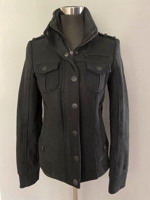 Schwarze Jacke von Esprit EDC / Fliegerjacke, Gr. XS
