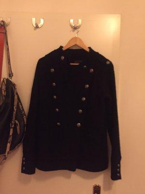 Schwarze Jacke von Zara mit Knöpfen, Größe M / Übergangsjacke