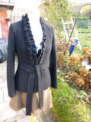 Schwarze Jacke Wolle Gr. 34