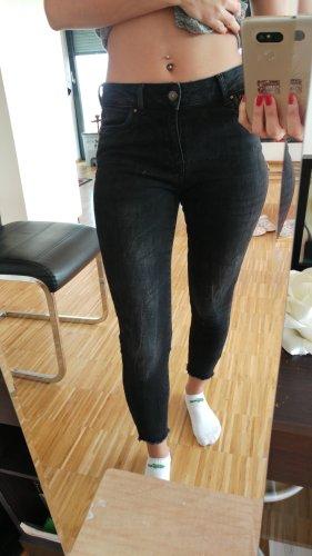 Vero Moda Pantalón de tubo negro-gris antracita