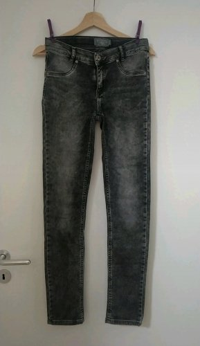 Blue Effect Jeans a sigaretta bianco-nero