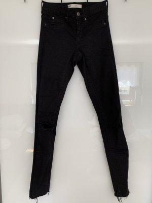 Gina Tricot Jeansy rurki czarny