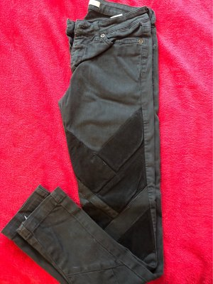 Superfine Jeans taille basse noir