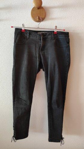 Jeans Fritz Jeansy rurki czarny-ciemnoszary