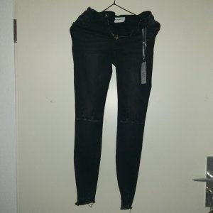 100% Fashion Skinny jeans zwart