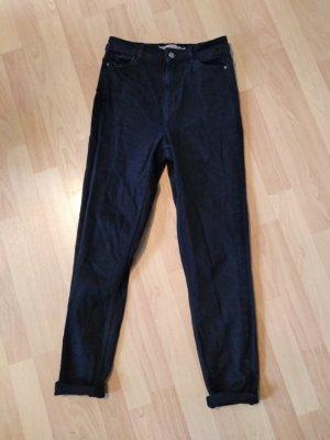 Pieces Pantalon fuselé noir coton