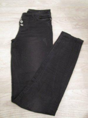schwarze Jeans Gr. 36 - Stretchjeans