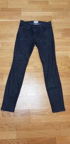 Schwarze Jeans in Lederoptik