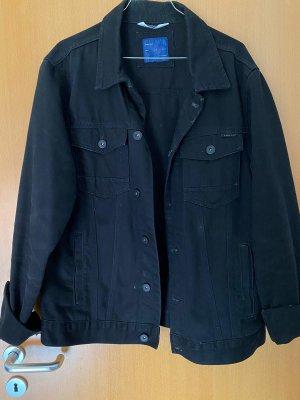 Schwarze Jeans Jacke von Zara, XL