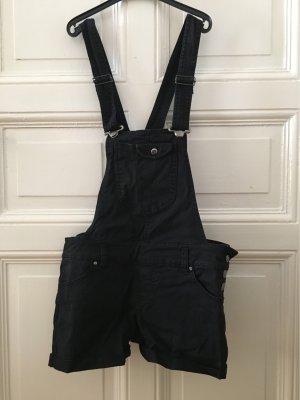 Salopette en jeans noir-argenté